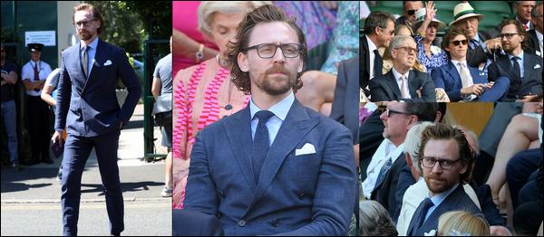 15.07.2018 : Tom Hiddleston est venu assister à la finale du tournoi de tennis de  Wimbledon  à Londres