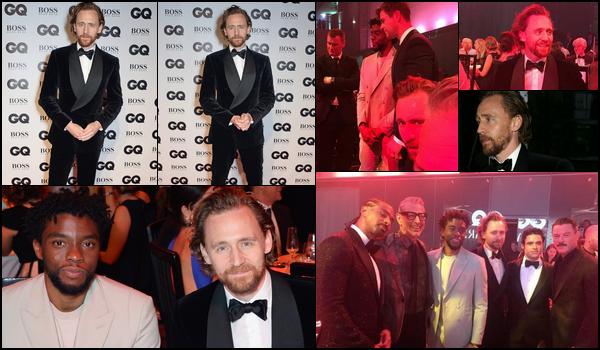 05.09.2018 : Tom Hiddleston était présent sur le red carpet des « GQ Men of the Year Awards » à Londres