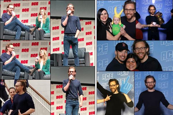 13.10.2018 : Tom avec Elizabeth Olsen et Chris Evans étaient au « ACE Comic-Con » qui s'est déroulé à Chicago