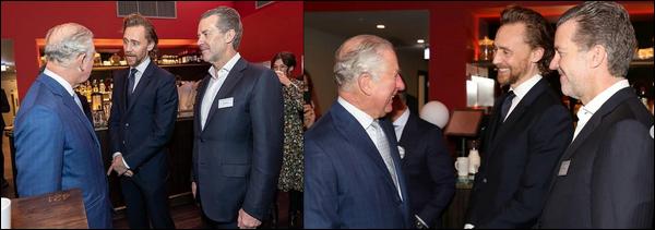 06.12.2018 : Tom Hiddleston s'est rendu au  « BFI Southbank »  et à rencontré le Prince Charles à  Londres