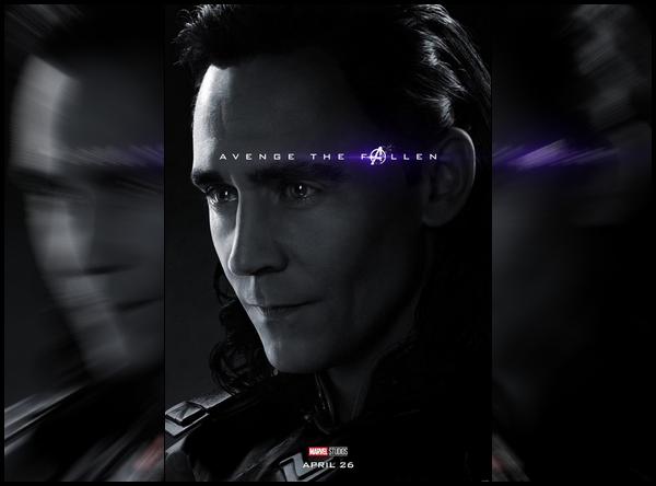 . Découvre le poster officiel de Loki pour « Avengers End Game »  sortie le 26 Avril     .
