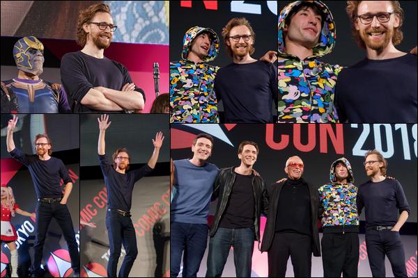 02.12.2018 :  Tom était avec Ezra Miller à la cérémonie de clôture du Comic Con de Tokyo au Japon