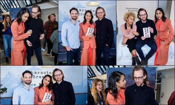 03/04/2019 :  Tom Hiddleston était au lancement du livre de Zawe Ashton à Londres en Angleterre