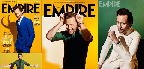.  Tom Hiddleston représente Loki pour le magazine « Empire »  de Avril 2021    .