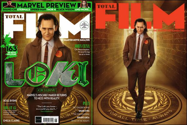 .  Tom Hiddleston fait la couverture du magazine « Total Film »  de Juin 2021    .