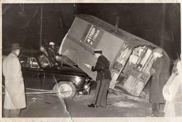 accident d'une roulotte année 1957-58