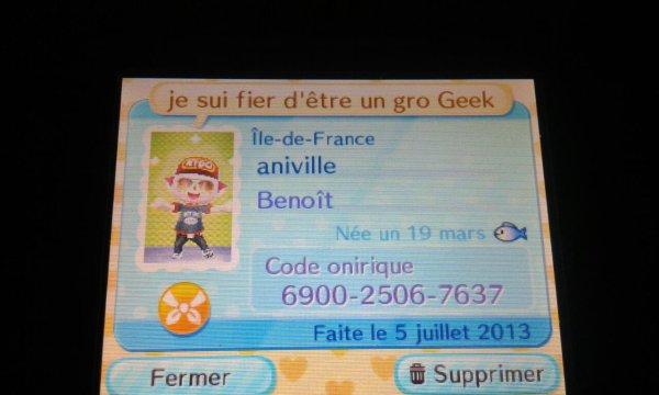 Son code onirique (à Benoît)