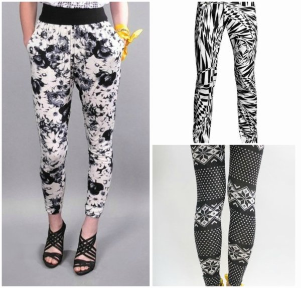 Pantalons a motifs .