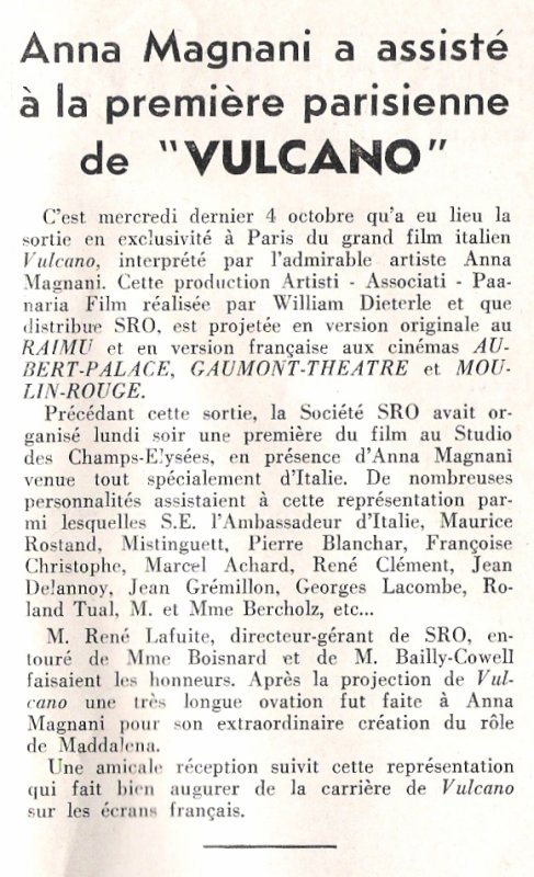 """""""Le Film Français"""" n° 309 du 06/10/1950"""