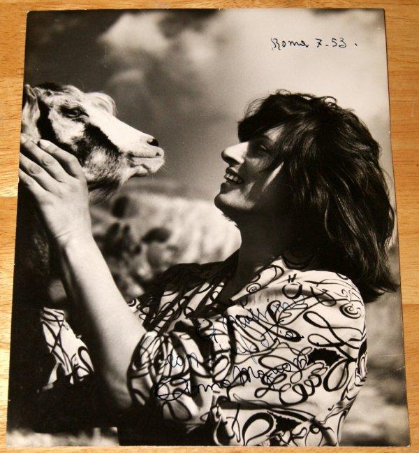 Autographe d'Anna Magnani (??/07/1953)
