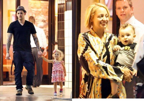 Nicole Richie, Joel Madden et leurs deux enfants Harlow et Sparrow !