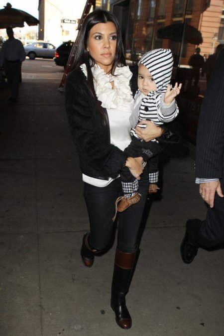 Kourtney Kardashian et Mason !
