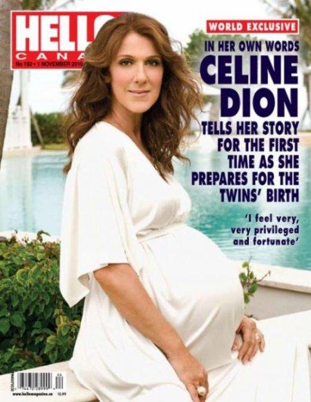 Céline Dion enceinte de 9 mois de jumeaux !