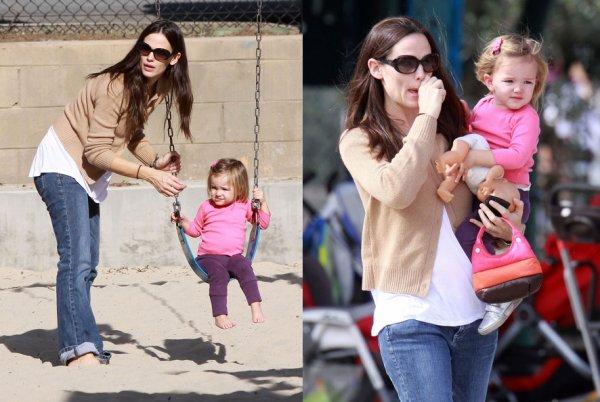 Jennifer Garner et sa fille Seraphina !