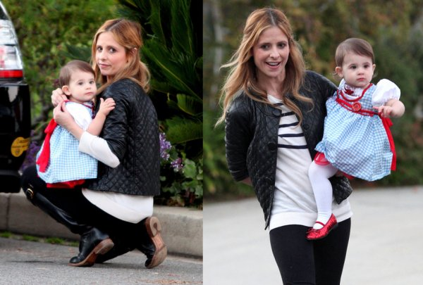 Sarah Michelle Gellar et sa fille Charlotte Grace !
