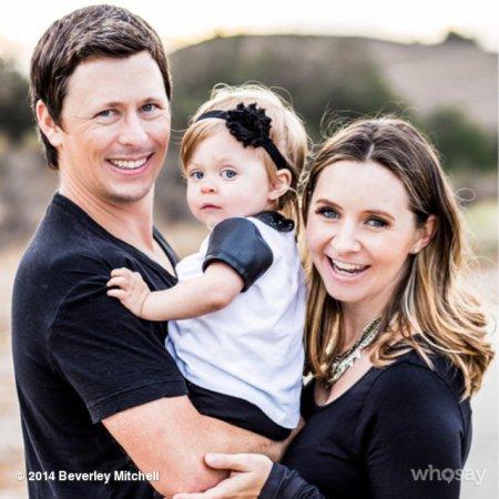 Beverley Mitchell, Michael Cameron et leur fille Kenzie, 1 an !