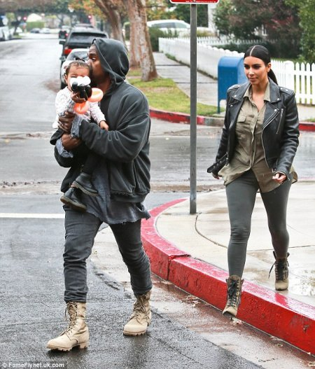 Kim Kardashian, Kanye West et North !
