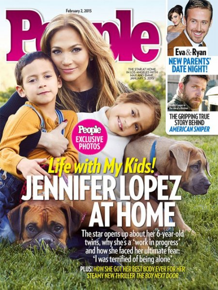 Jennifer Lopez avec ses enfants Max et Emme, 6 ans et demi !