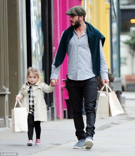 David Beckham et sa fille Harper, 3 ans !