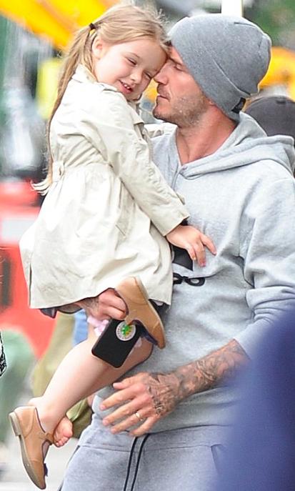 David Beckham et sa fille Harper Seven, 3 ans et demi !