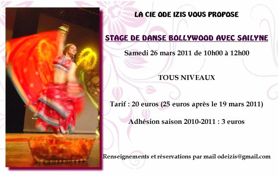 Stage de danse bollywood avec Sailyne - 26 mars 2011