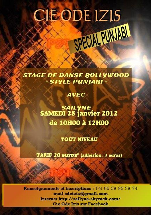 Stage Punjabi avec Sailyne - 28 janvier 2012