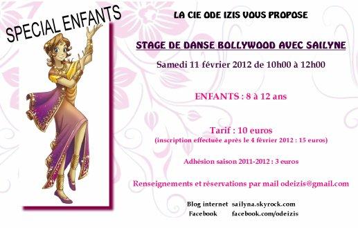 STAGE ENFANTS - DANSE ORIENTALE AVEC SAILYNE - Samedi 11 Février 2012