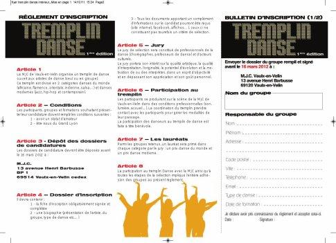 TREMPLIN DANSE ( concours danses modernes et danses du Monde)