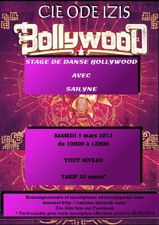STAGE DE DANSE BOLLYWOOD AVEC SAILYNE - samedi 3 mars 2012