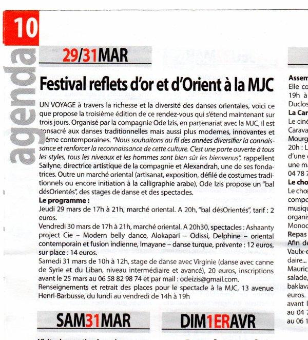 ARTICLE JOURNAL VAULX MAG - MARS 2012