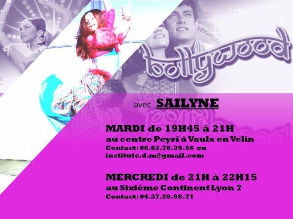 Cour de danses Bollywood 2016/2017 Lyon et Vaulx en velin
