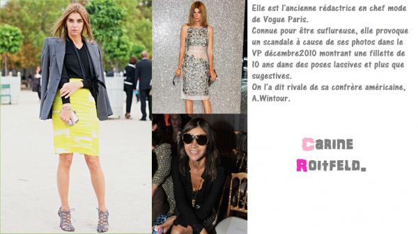 Tome I des personnalitées de la Mode influentes : Les rédactrices.