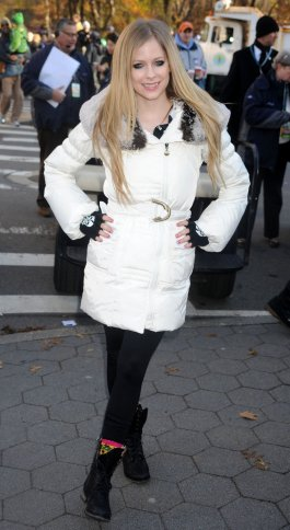 Avril at the Thanksgiving Day Parade, at the Picksie event, and cooking on MTV - December 6, 2011
