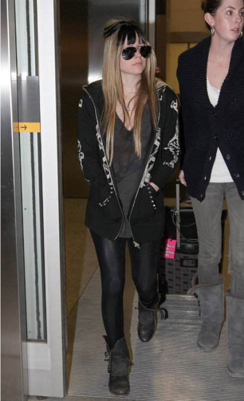At the airport in Toronto, Canada - April 20, 2012