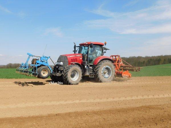 Case IH Puma 160 CVX à la préparation du sol pour le semis de betteraves