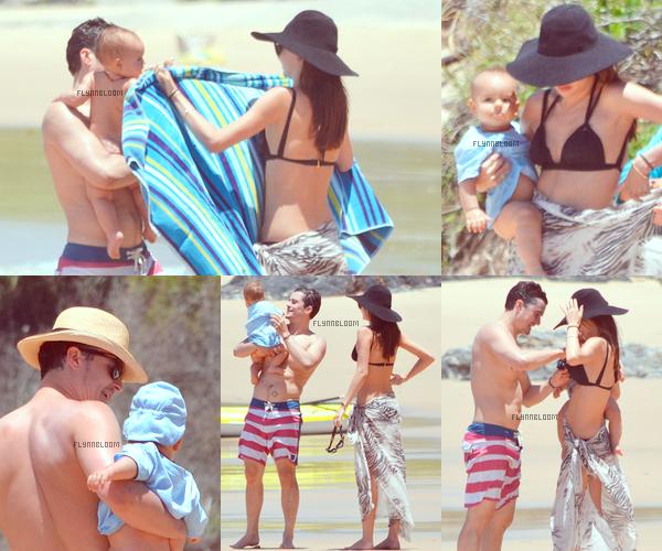 25.12.2011 ~ Orlando, Miranda et Flynn à  la plage