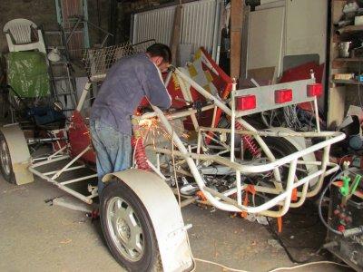 le travail commence sur le buggy .ca change de la 205
