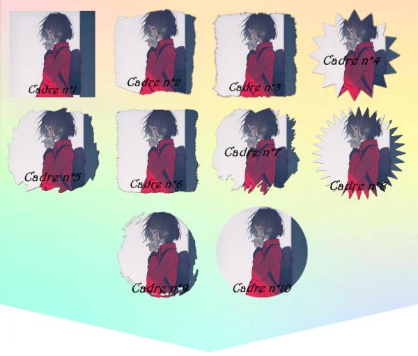 Cadres d'avatars