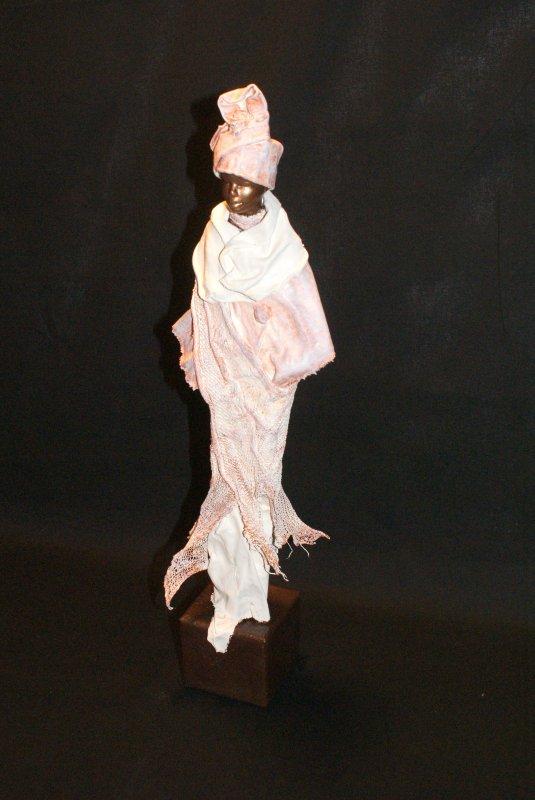 statue africaine powertex - tissu