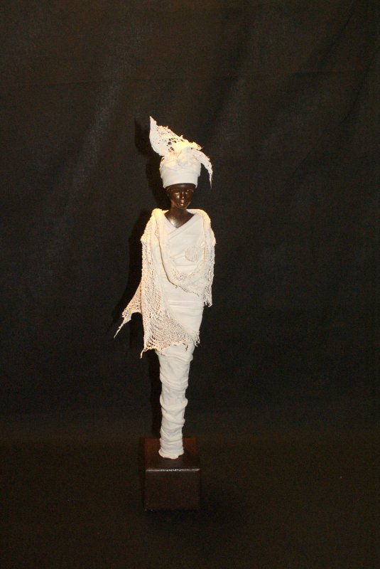 statue africaine en powertex