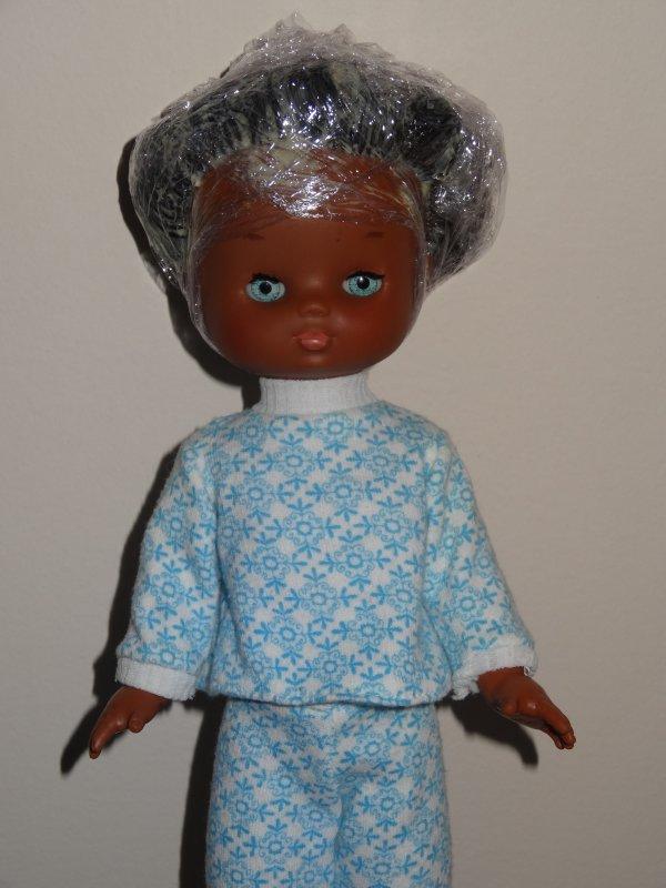 Lesly encore en séance de soins capillaires :)