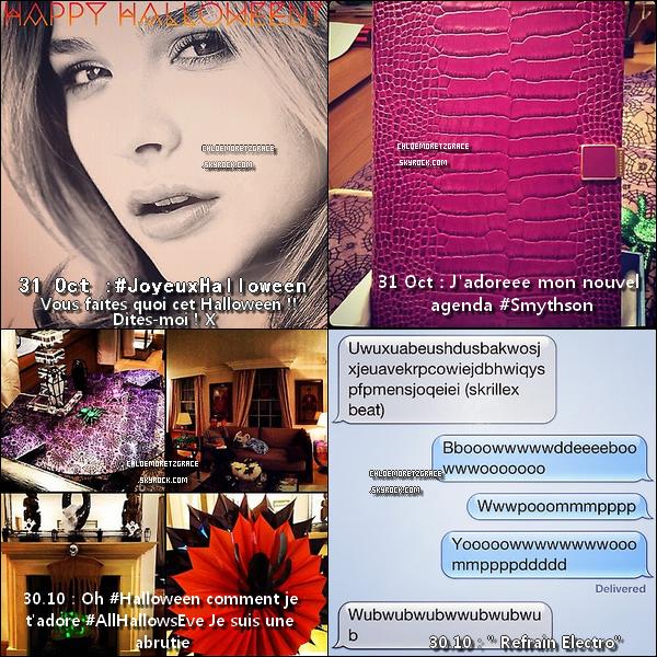 . Chloë nous donne de ses nouvelles par des photos Twitter & Instagram. 25.10.2012 : Chloë à été aperçue quittant le Restaurant Japonais « Nobu » à Londres. .