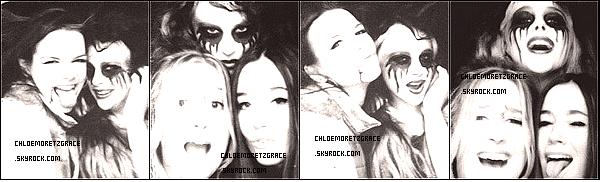 . De nouvelles Photos de Chloë avec deux Amies pour Haloween. Une photo de Chloë et sesfrères plus jeunes ( Date Inconnu) + Les dernières photos Twitter. .