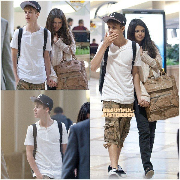 Quelque photos de Justin au BillBoards et de Jelena a l'aéroport