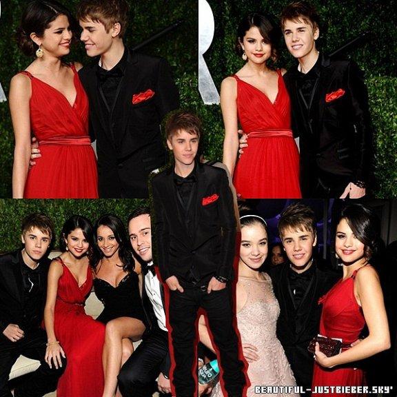 - Hier soir ( 27 février ), Justin était au  2011 Vanity Fair Oscar Party avec Selena Gomez. -