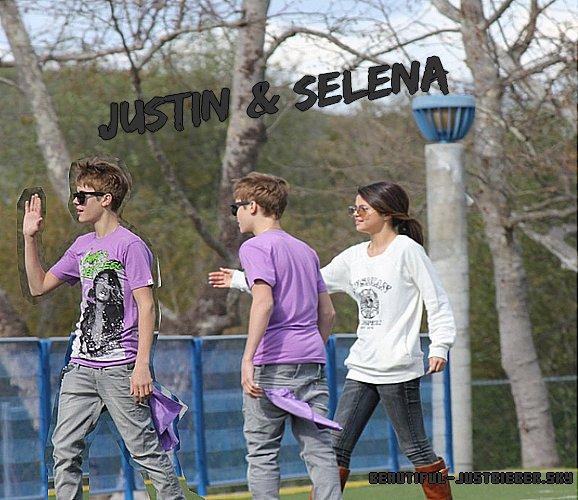-  Malgré les rumeurs qui circulent sur Justin et Selena ( qu'ils sont plus ensemble ), ils seraient toujours ensemble si on en croit ces photos. Hier le 26 février, ils ont été aperçu se promenant dans un parc. -
