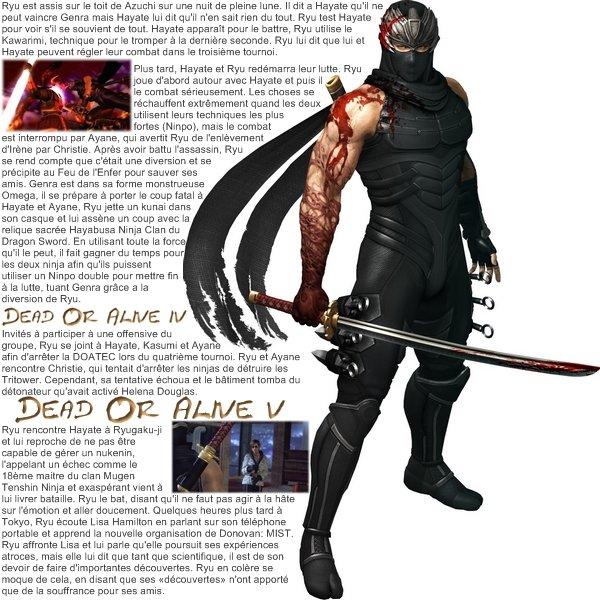Biographie de Ryu Hayabusa.