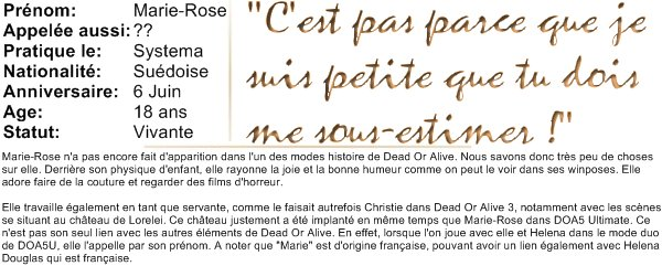 Biographie de Marie-Rose.