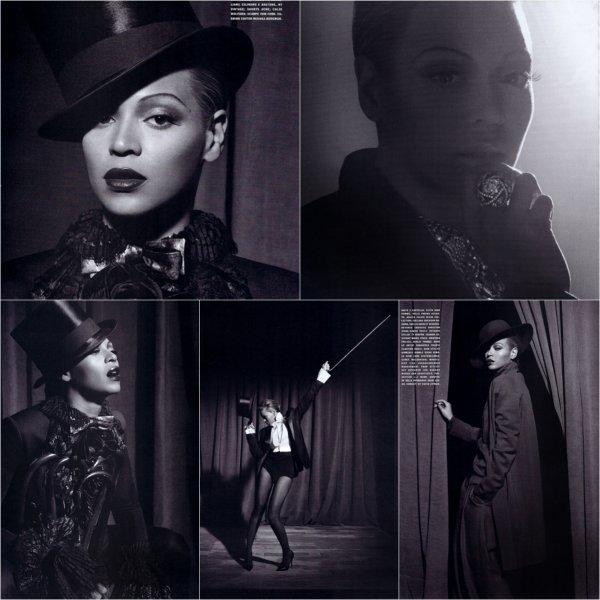 © Photoshoots de Beyoncé pour le magazine L'Uomo Vogue