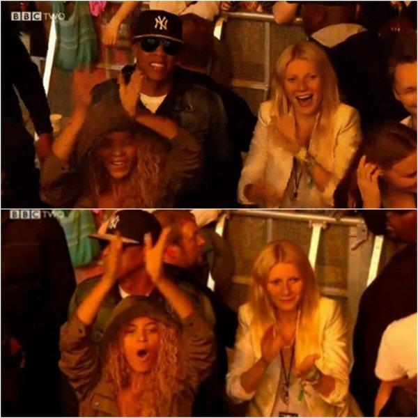 © Beyoncé au concert de Coldplay à Glastonbury